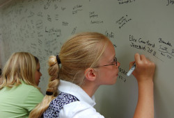 Heritage - Students sign beam May 2009