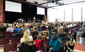 Students Give Back at Annual Christmas Gift Chapel